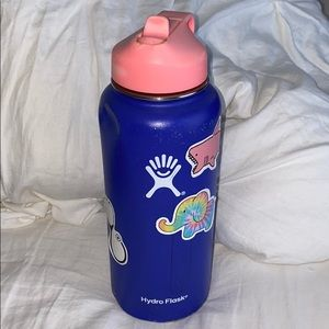 32 OZ Purple Hydroflask with a Pink Head